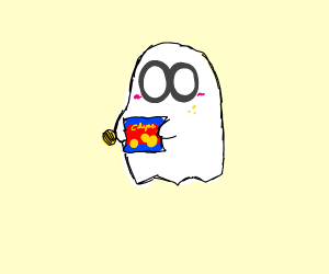Ghosts eating chips