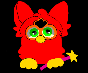 furby elmo with a fairy wand