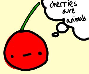 cherry thinks that cherries are animals