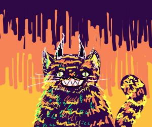 smiling demon cat