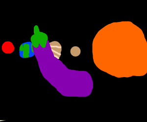 Eggplant in space