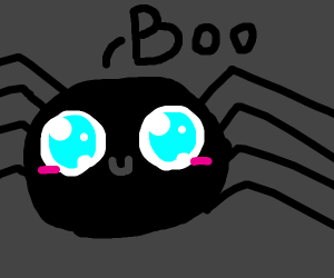 A cute spider saying BOO!