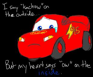 Lightning McQueen has crippling depression