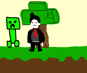 Vampire blown up by creeper