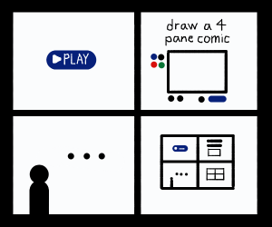 draw a 4 pane comic (and continue to next)