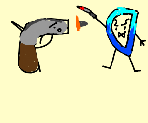 Gun tries to shoot a murderous D