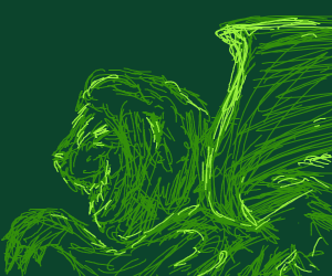 puking winged lion