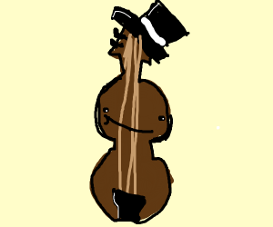 Violin wearing a Top Hat