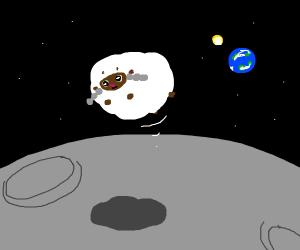 wooloo bouncing on the moon