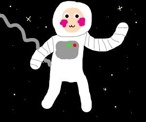 Blushing astronaut