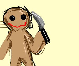 Murderous Gingerbread man.