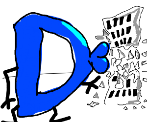 Drawception destroys building by kissing it