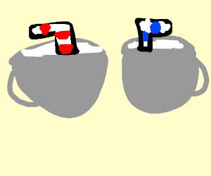 Cuphead and Mugman