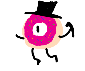 Bill Cipher but a Donut
