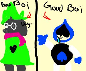 ralsei is a bad boi but lancer is a good boi