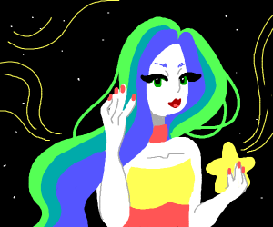 A sexy lady in space