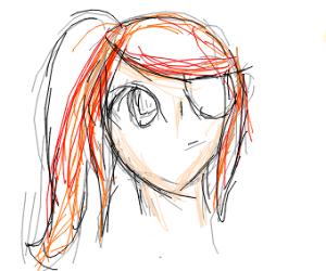 Anime girl with eyepatch