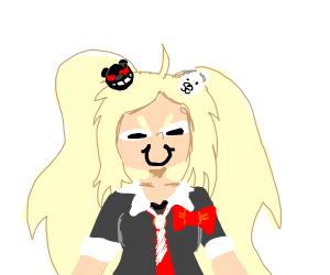 junko enoshima with a weird face