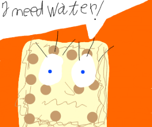 Spongebob is drying out
