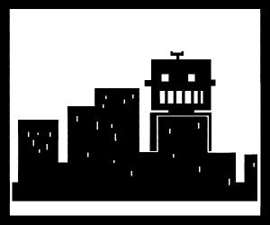 big robot attacks city
