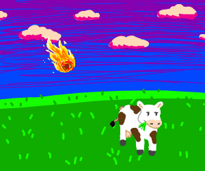 A Fireball Near a cow