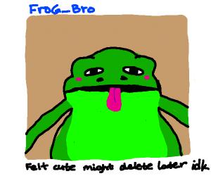 frog taking a selfie