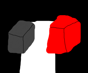 2 causal boxes, except they are black and red