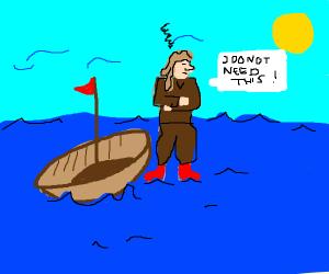Jesus in a boat