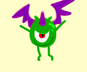 Mike Wazowski is purple unicorn bat, evil.
