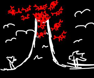 crab volcano
