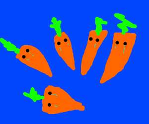 sad carrots crying