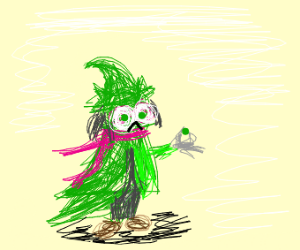 Ralsei does not want to eat peas