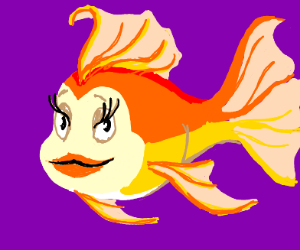fish woman thats look like a disney