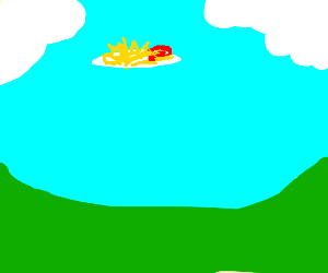 ketchup and fries in the sky