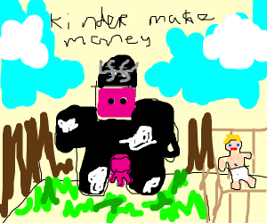 cow making mad cash in kindergarten
