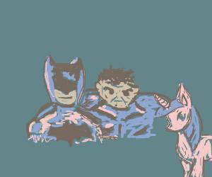 Batman and Hulk meets My Little Pony
