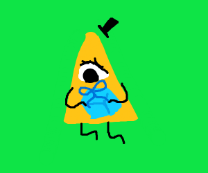 Bill Cipher receives a present