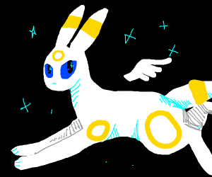 Umbreon, but with white fur instead of black?