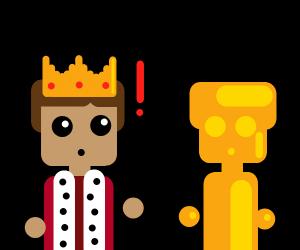King Midas turning man into gold