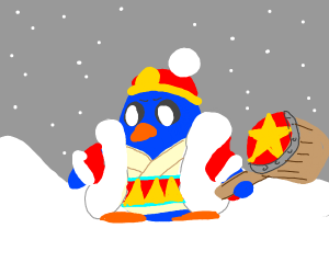 King Dedede drawn in Adventure time style