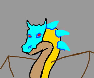 Icy blue and yellow dragon