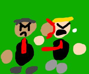 Obama beating up Trump
