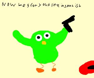 duolingo bird killed someone