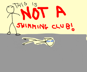 not a swimming club