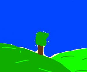 wallpaper of a green moutain