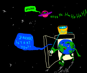 Alien messes with Earth