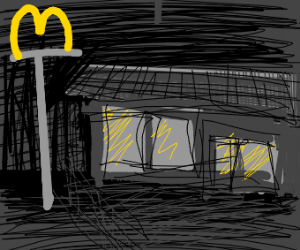 Empty Mcdonald's restaurant