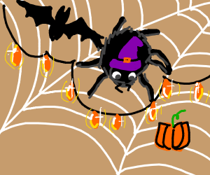 Spider gets ready for halloweeeen