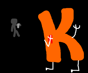 a man shoots the ..letter.. K