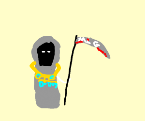 Death flexes on you with his ability to kill